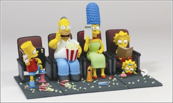 The Simpsons Movie - the family in the cinema