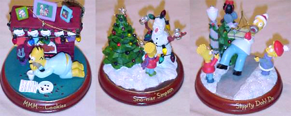 hey fans the second set of three simpsons illuminated christmas ornaments have been shipped by the bradford exchange the new 3 ornaments are mmm