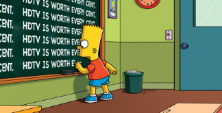 Bart at blackboard